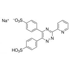 3-(2-Pyridyl)-5,6-diphenyl-1,2,4-triazine-4′,4′′-disulfonic acid sodium salt, Sigma-Aldrich, CAS  69898-45-9